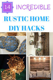 click to learn more about these 14 amazing rustic home decor diy