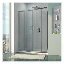 6mm 1400mm double sliding door shower enclosure