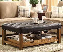 furniture black ottoman with large ottoman tray under it for home