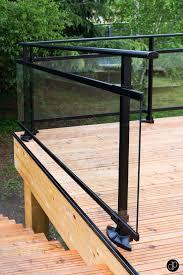 terrasse en bois suspendue création d u0027une terrasse de 50m2 avec garde corps vitré pour ne pas