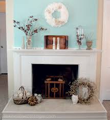 spring decorations for the home decorating a fireplace mantle interior design
