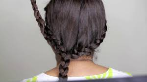 party hairstyle waterfall braid and bun with braid video
