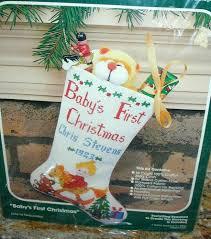 new bucilla counted cross stitch kit baby u0027s first christmas