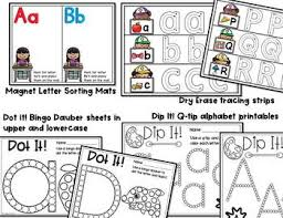 alphabet centers and activities for pre k and kindergarten tpt