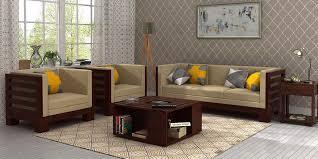 Simple Wooden Sofa Wooden Sofa Sets Online Buy Solid Wood Sofa Set Upto 65 Off