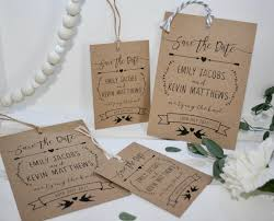 save the date luggage tags printed personalised wedding save the date luggage tags rustic