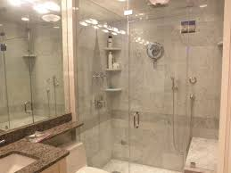 Shower Designs With Bench Accessories Fetching Grey Ceramic Tile Shower Wall And Frameless