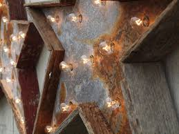 Lighting Fixture Company by Custom Star Light Fixture 36 Inch Metal Sign Barn Wood By West