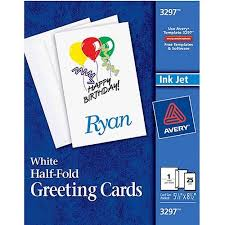 avery half fold greeting cards set of 25 walmart