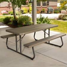 Lifetime Folding Picnic Table Lifetime Table Ebay