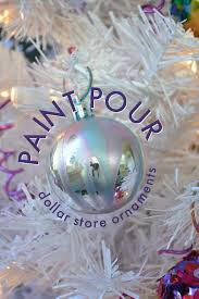 metallic paint pour ornaments mad in crafts