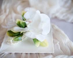 white orchid corsage white orchid corsage etsy