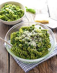 the iron you spring pasta salad with pesto and peas