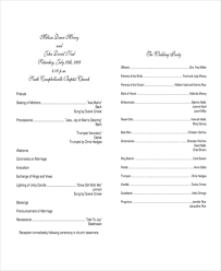 free sle wedding programs 10 wedding program templates free sle exle format