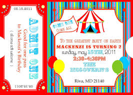 circus invitations template best template collection