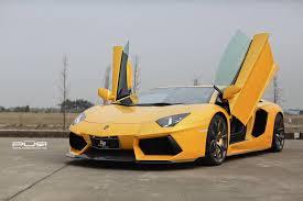 Lamborghini Aventador Neon - bright yellow lamborghini aventador on bronze pur wheels gtspirit