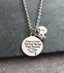 high school class necklaces class of 2017 graduation grad graduate gifts for gift high