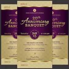 church anniversary banquet ticket template inspiks market