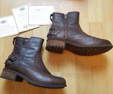 s ugg australia noira boots usa ugg australia 100 leather biker boots for ebay