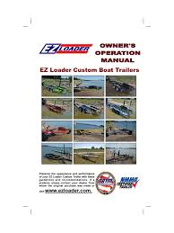 ez loader owners manual trailer vehicle brake