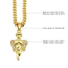 praying necklace men women golden micro angel praying necklace pendants