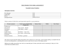 manufacturing risk assessment template l6g production risk assessment form exle and template