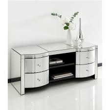 Tv Unit Furniture Online Romano Crystal Mirrored Tv Cabinet Venetian Mirrored Furniture