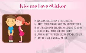 kiss me love stickers android apps on google play