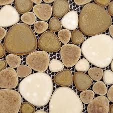 Wholesale Porcelain Pebble Tile Sheets Bathroom Wall Backsplash - Pebble backsplash