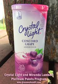 Is Crystal Light Good For You Crystal Light And Miranda Lambert Platinum Points Program U2013 The