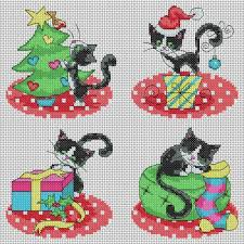 cat cards cross stitch pattern heaton cross
