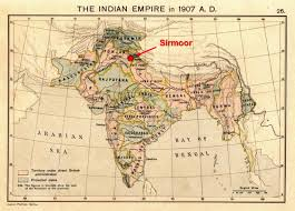 States Of India Map by Sirmoor Princely State Of India 1815 U2013 1948 Dead Country