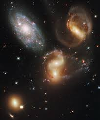 galactic wreckage in stephan s quintet wallpaper wall mural galactic wreckage in stephan s quintet wall mural photo wallpaper