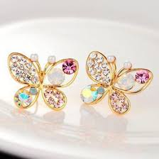 butterfly gold ear studs butterfly gold ear studs for sale