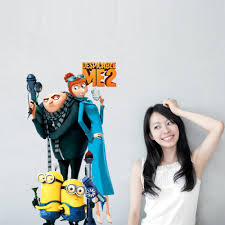 children 39 s wall sticker me to you promotion shop for 33 60cm despicable me 2 cartoon removable wall stickers living room children s bedroom sofa backdrop waterproof stickers art