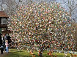 german easter egg tree christmas had been a production but it was easter that really