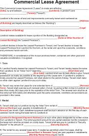 Commercial Lease Sample Commercial Lease Agreement Download Free U0026 Premium Templates