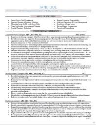 Sports Management Resume Samples by General Manager Resume Example Sports Club Management