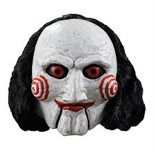 halloween costume mask saw jigsaw billy the puppet full overhead costume mask