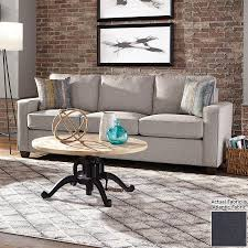 Blue Sofa In Living Room Shop Living Brownswood Casual Atlantic Blue Sofa At Lowes