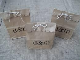 paper bag wedding favor ideas lading for