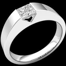 tension engagement rings tension set princess cut ring in 9ct white gold pd297 9w