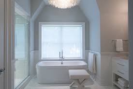 grey and white bathroom design transitional bathroom
