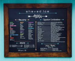 Hutch Menu Ice Hutch Shaved Ice 213 E Main St Grantsville Ut Yelp