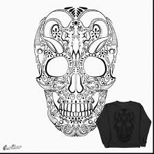 beautiful day of the dead skull coloring pages with sugar