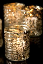 Mercury Glass Home Decor Stunning Christmas Party Decoration Ideas With White Candle Cool