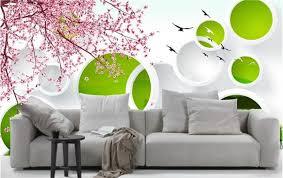 wallpaper bunga lingkaran 3d kustom foto mural 3d wallpaper bunga merah muda yang indah