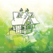 house plans green bokeh background stock vector art 155507271 istock