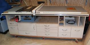 Table Saw Cabinet Plans My Table Saw Cabinet Work In Progress 1 So Far So Good But