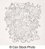 clipart vector of sales and discount doodles sketch hand drawn
